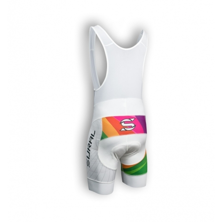 TIGHT SHORT BIB CYCLING OVAL MAN RAINBOW