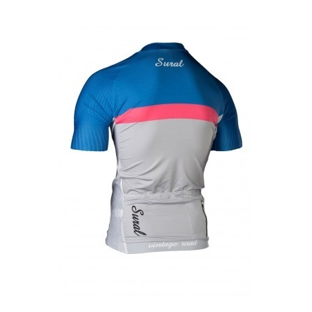 JERSEY CYCLING SHORT SLEEVE WINDSEALER SOLID BLUE